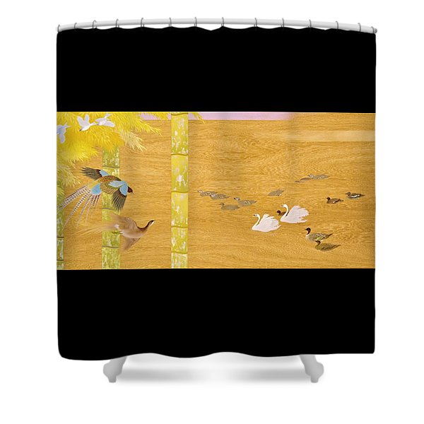 Japanese Modern Interior Art #121-part4 Shower Curtain