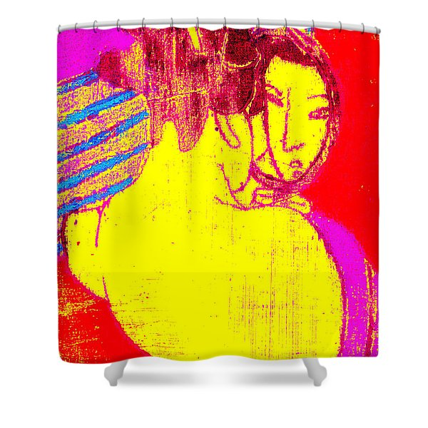 Japanese Pop Art Print 1 Shower Curtain