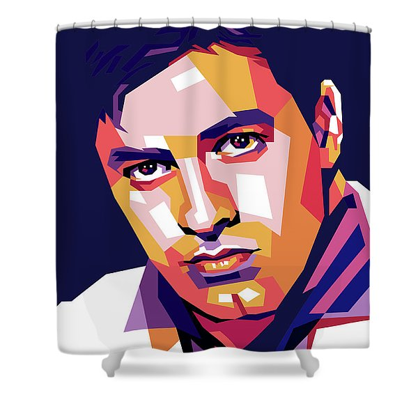 Jerry Lewis Illustration Shower Curtain