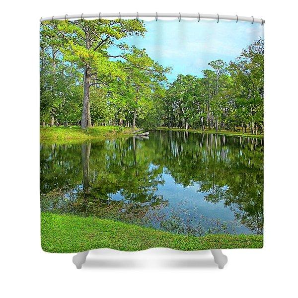 Jessamine Pond Shower Curtain