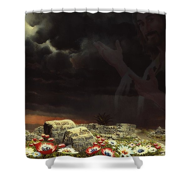 Jesus And His Jewels Shower Curtain