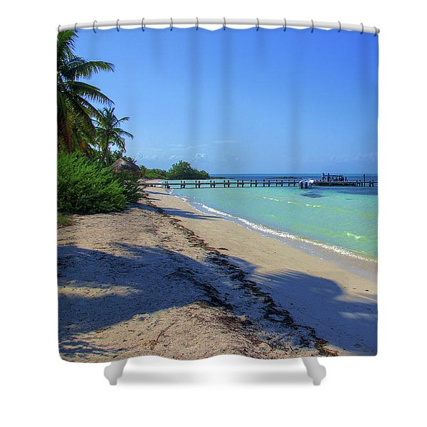 Jetty On Isla Contoy Shower Curtain