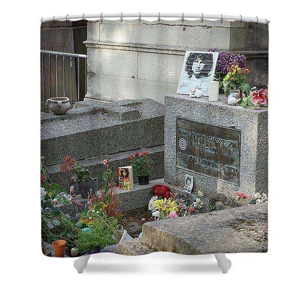 Jim Morrison's Grave Shower Curtain