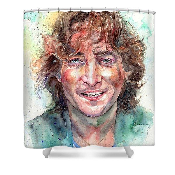 John Lennon Smiling Shower Curtain