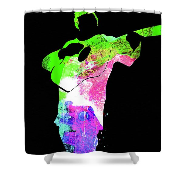 Johnny Watercolor II Shower Curtain