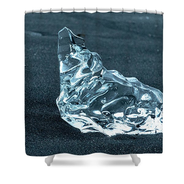Jokulsarlon Diamond Shower Curtain