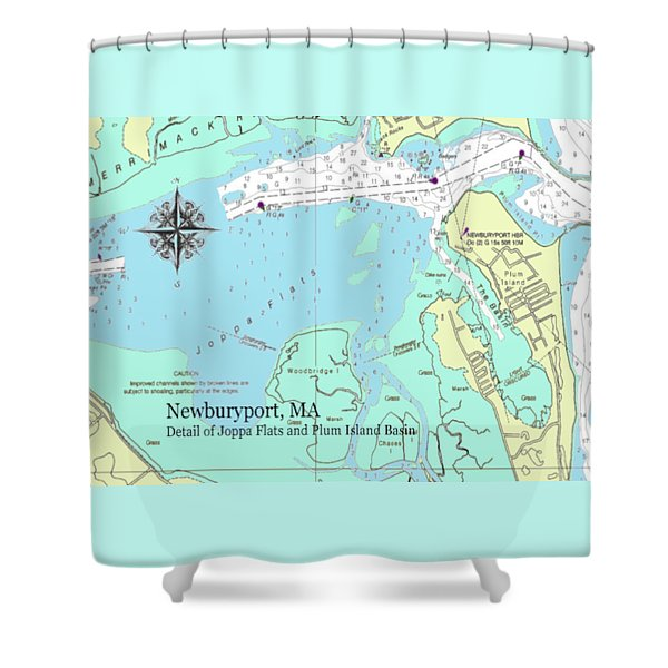 Joppa Flats Map Shower Curtain