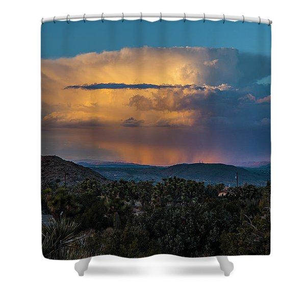 Joshua Tree Thunderhead Shower Curtain