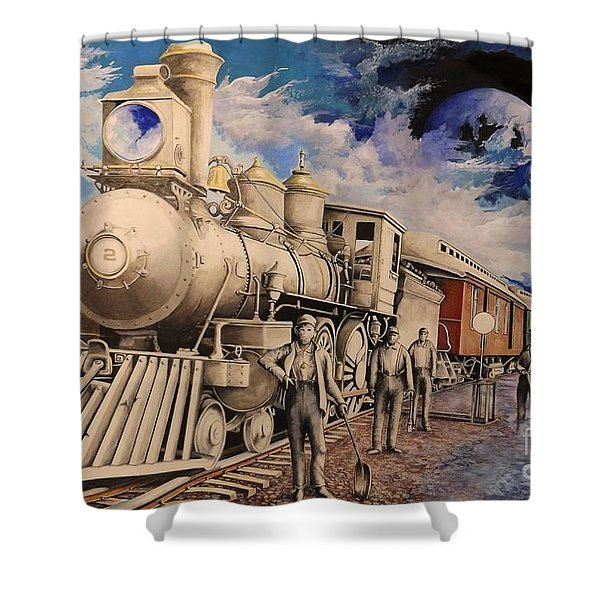 Journey Through The Mists Of Time Shower Curtain