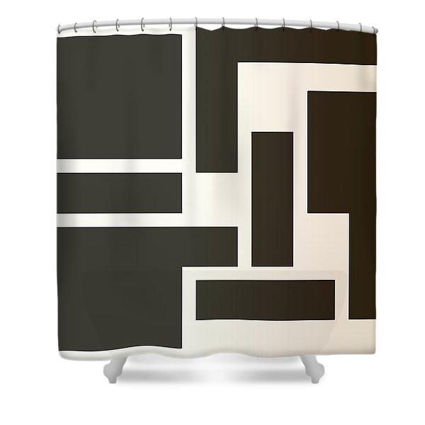 Julije Knifer Tribute Shower Curtain