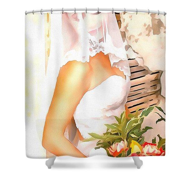 June Bride Shower Curtain