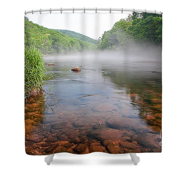 June Morning Mist Shower Curtain
