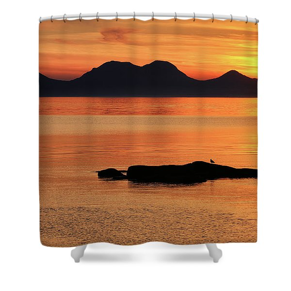 Jura Sunset Shower Curtain