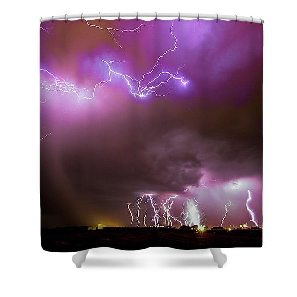Shower Curtain featuring the photograph Just A Few Bolts 001 by NebraskaSC