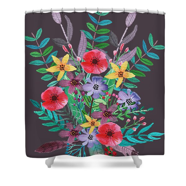 Just Flora II Shower Curtain
