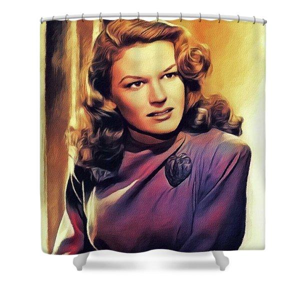 K. T. Stevens, Vintage Actress Shower Curtain