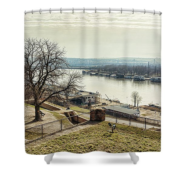Shower Curtain featuring the photograph Kalemegdan Park Fortress In Belgrade by Milan Ljubisavljevic