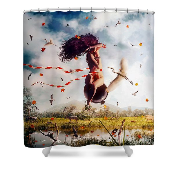 Kamikaze Shower Curtain