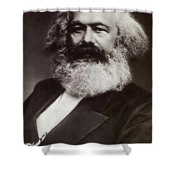 Karl Marx Portrait Shower Curtain
