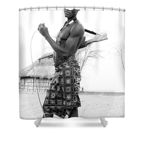 Karo Man  Shower Curtain