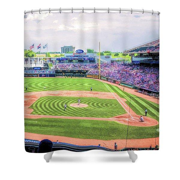 Kauffman Stadium Kansas City Royals Baseball Ballpark Stadium Shower Curtain