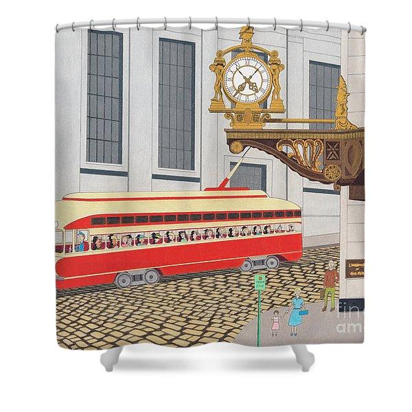 Kaufmann Clock Shower Curtain