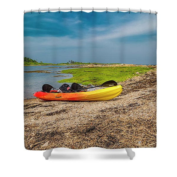 Kayaking Adventure In Maine Shower Curtain