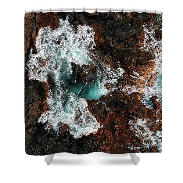 Keahole Aerial Shower Curtain