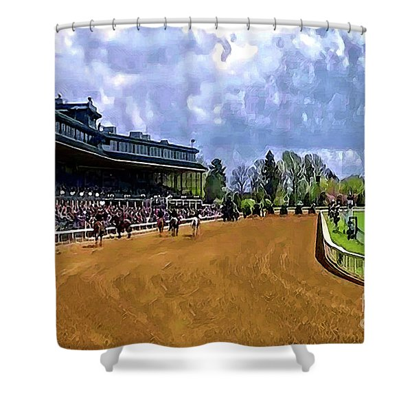 Keeneland The Stretch Shower Curtain