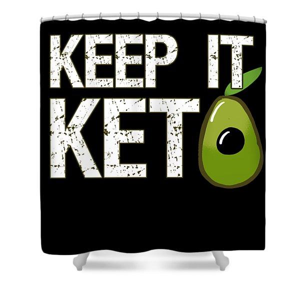 Keep It Keto Shower Curtain