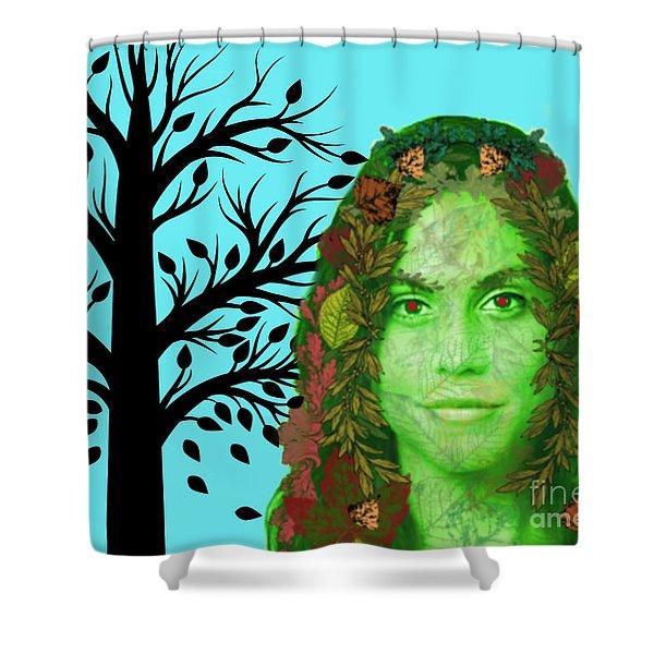 Keeper Of Autumn Shower Curtain