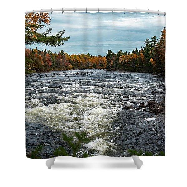 Kennebec River Shower Curtain