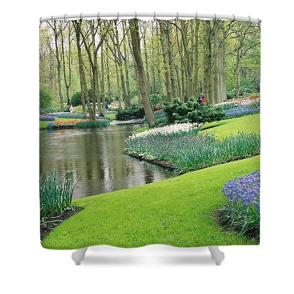 Keukenhof Gardens Shower Curtain