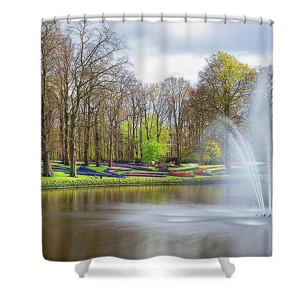 Keukenhof Tulip Garden Holland Shower Curtain