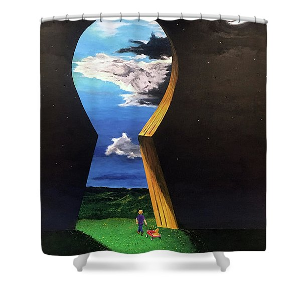 Key To Success Shower Curtain