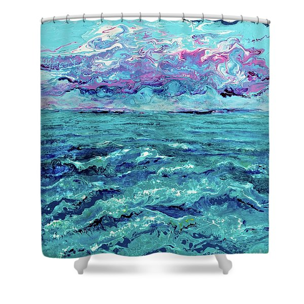 Keys Seascape Shower Curtain