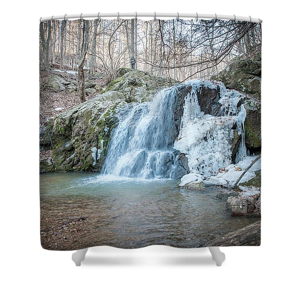 Kilgore Falls In Winter Shower Curtain