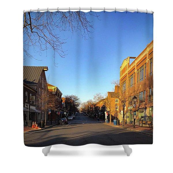 King Street Sunrise Shower Curtain