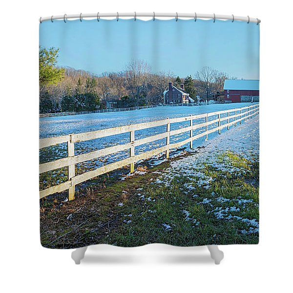 Kingsville Farm And Fence Shower Curtain