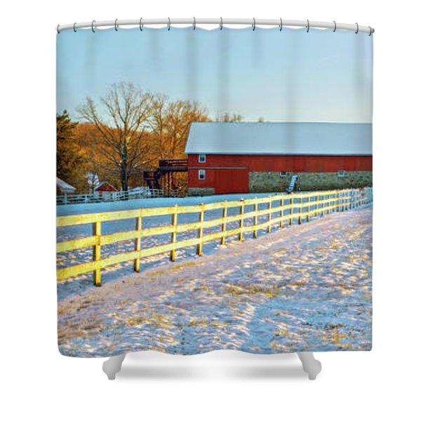 Kingsville Farm In Winter Shower Curtain