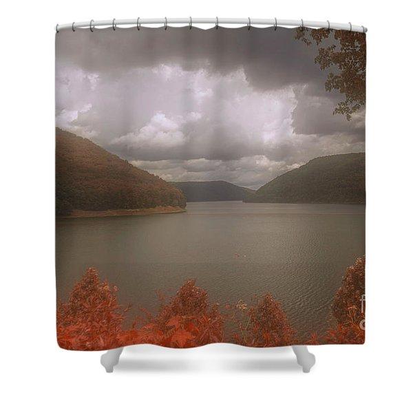 Kinzua Lake Shower Curtain