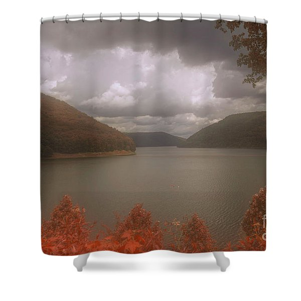 Kinzua Lake Shower Curtain