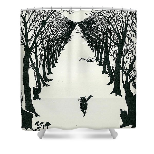 The Cat That Walked By Himself Shower Curtain