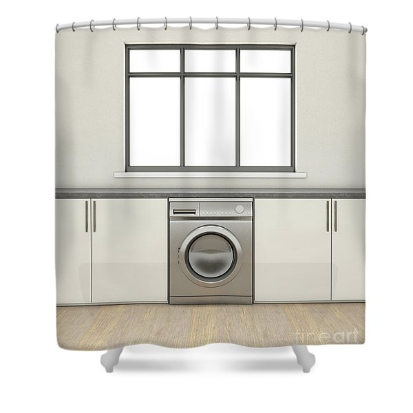 Kitchen And Cupboards Shower Curtain