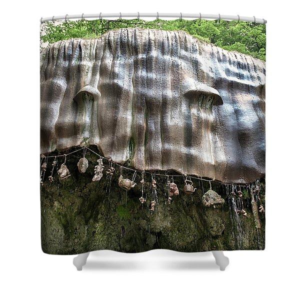 Knaresborough, Stone Waterfall Shower Curtain