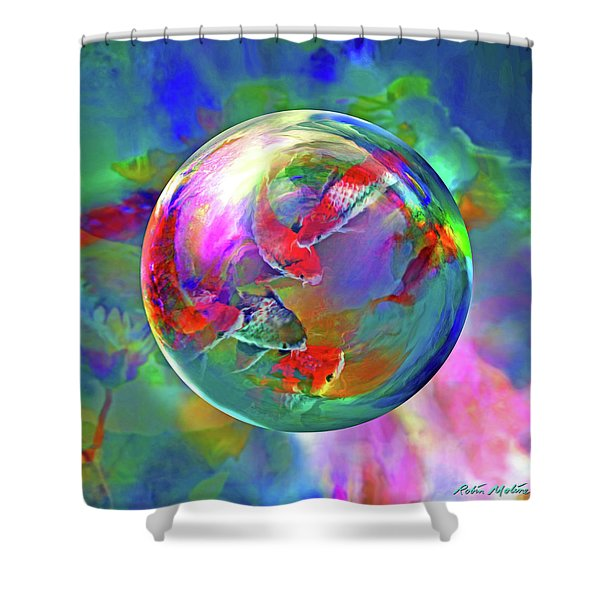 Koi Pond In The Round Shower Curtain
