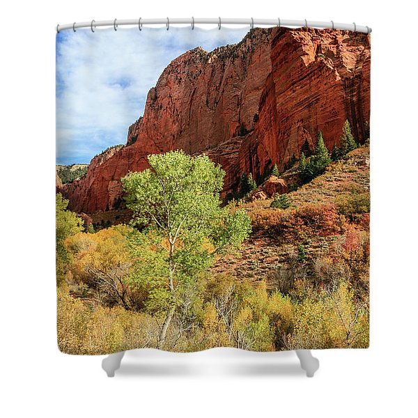 Kolob Canyon 1, Zion National Park Shower Curtain