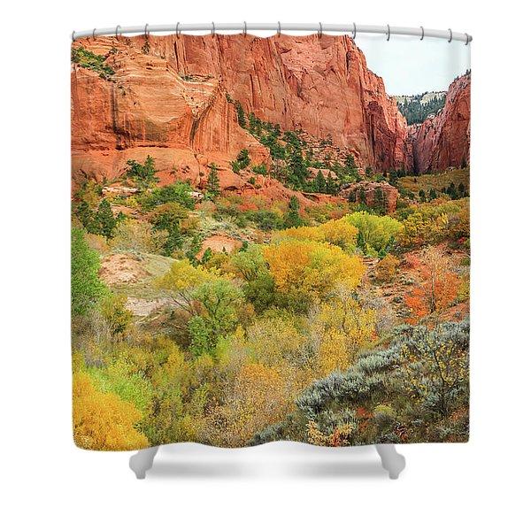 Kolob Canyon 2, Zion National Park Shower Curtain