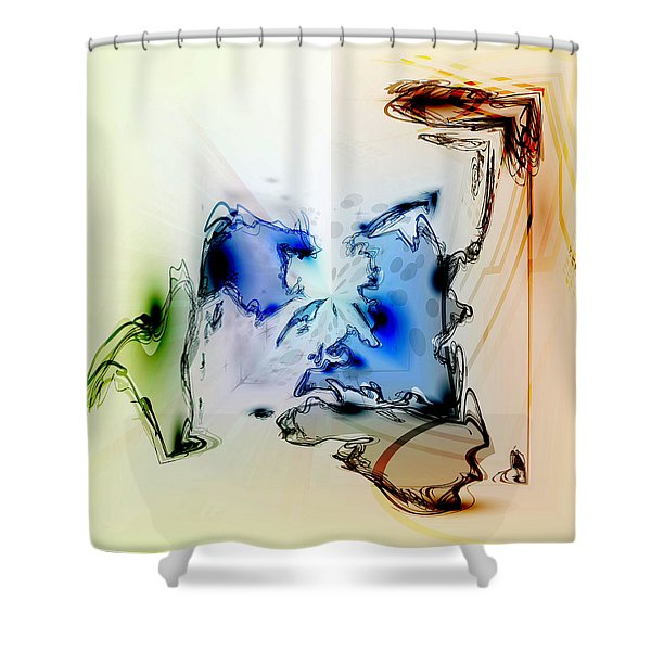 Shower Curtain featuring the digital art Kooky Abstract by Robert G Kernodle