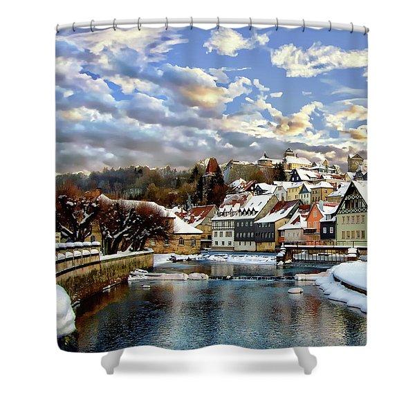 Kronach Winter Scene Shower Curtain